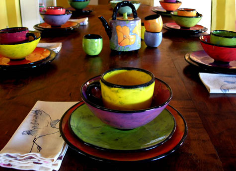 Handmade Handpainted Colorful Ceramic Dinner Ware Santa Fe New Mexico & Scintillating Chip Resistant Dinnerware Gallery - Best Image Engine ...