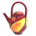 Pear Teapot with Strawberries on Cherry Cherry