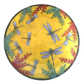 Medium Platter with Dragonflies on Buttercup