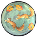 Salad Plate with Squirrels on Light Bermuda