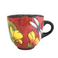 Large Cup with Dragonflies on Frogspear Red