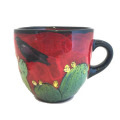 Large Cup with Ravens and Cactus on Cherry Cherry