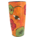 Stella Vase with Nastruims on Burnt Orange