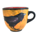 Large Cup with Ravens on Hibiscus