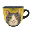 Large cup with a Cat and Mouse on Sunshine
