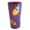 Tumbler with Scarabs on Viva Violet