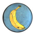 Bread and Butter Plate with a Banana on Turquoise