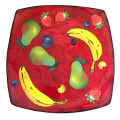 Large Square Platter with Multi Fruit on Cherry Cherry