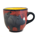 Large Cup with a Rhino on Frogspear