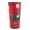Tumbler with Chickens on Cherry Cherry