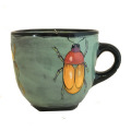 Large Cup with Scarabs on Light Bermuda