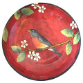 Pasta Bowl with a Robin on Cherry Cherry