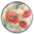 Salad Plate with Oriental Poppies on Peach Blush