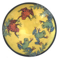 Soup Bowl with Frogs on Buttercup Yellow