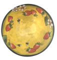 Medium Serving Bowl with Bees and Strawberries on Buttercup