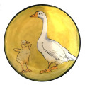 Salad Plate with a Duck and Chick on Buttercup