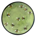 Bread and Butter Plate with Bees on Grass Green