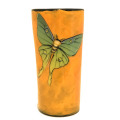 Tumbler with Luna Moths on Hibiscus