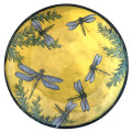Dinner Plate with Dragonflies on Buttercup