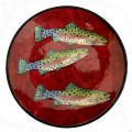 Dinner Plate with Trout on Cherry Cherry